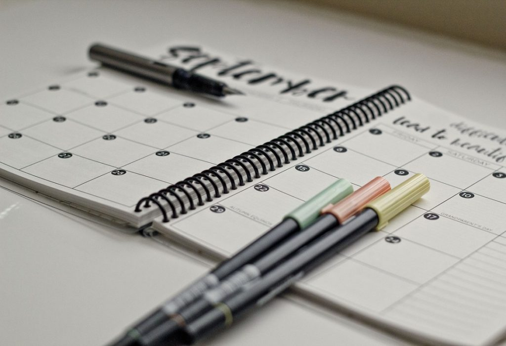 organizzare la settimana
