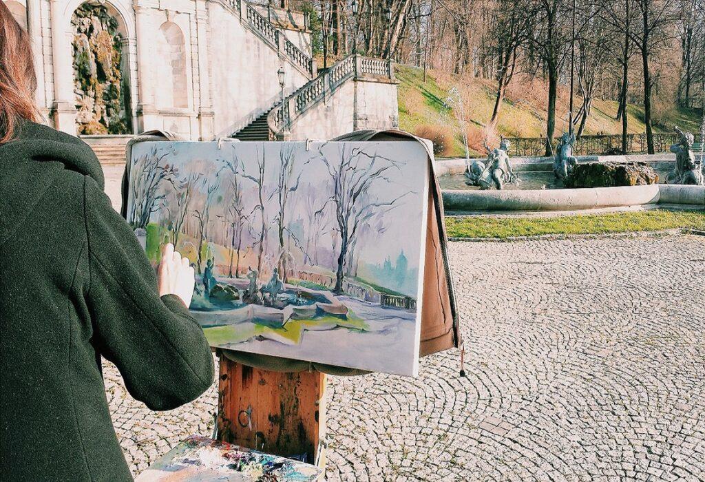 disegnare all'aperto
